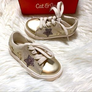 Other - CAT & JACK GOLD SNEAKERS BABY TODDLER GIRL NEW